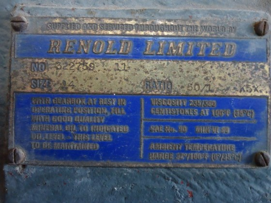 RENOLD LIMITED GEARBOX
